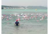 目の前に広がる美しい青い海と水平線!『美浜サンセットビーチ』にて初OWS!